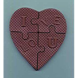 """Chocolate """"I Love You"""" Heart Puzzle"""