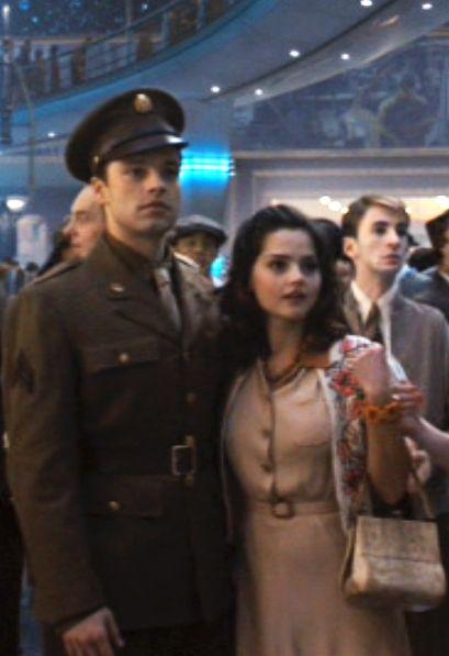 Sebastian Stan and Jenna Coleman (aka Clara from Doctor Who). 'Captain America' (2011)