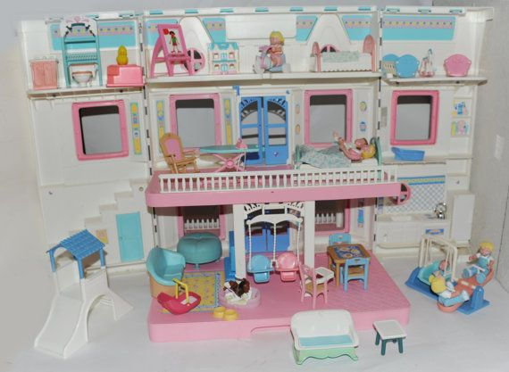 Play With Dollhouse Vintage Fisher Price Loving Family