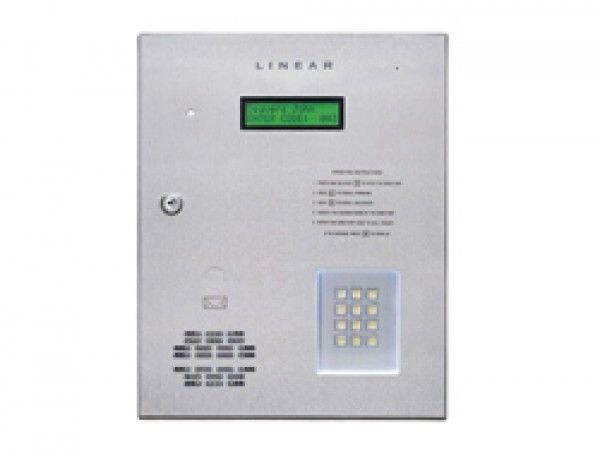 Linear AE1000 Plus Commercial Telephone Entry System with Access Control is use as primary access control device for parking lots garages, office, apartments, residential buildings