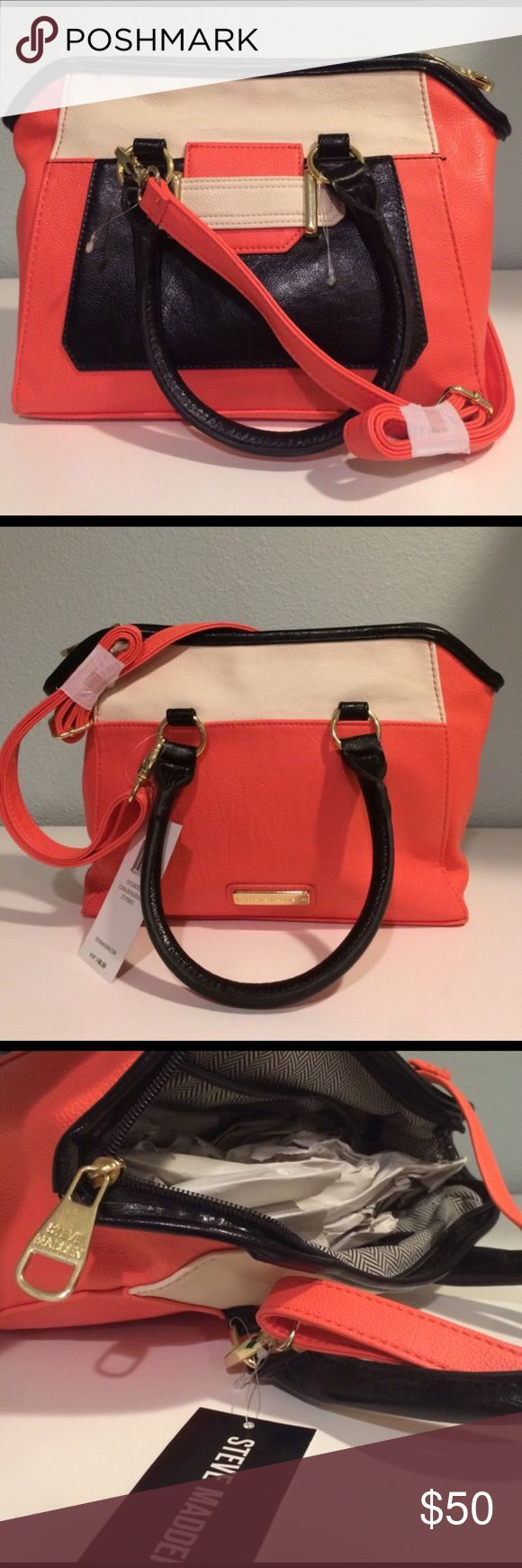 Steve Madden purse Super cute purse can be worn as a cross body or just carried by the handles. Nothing wrong with it I bought an identical one like this one on here and my parents got me the same one for my birthday 😂 Steve Madden Bags Crossbody Bags
