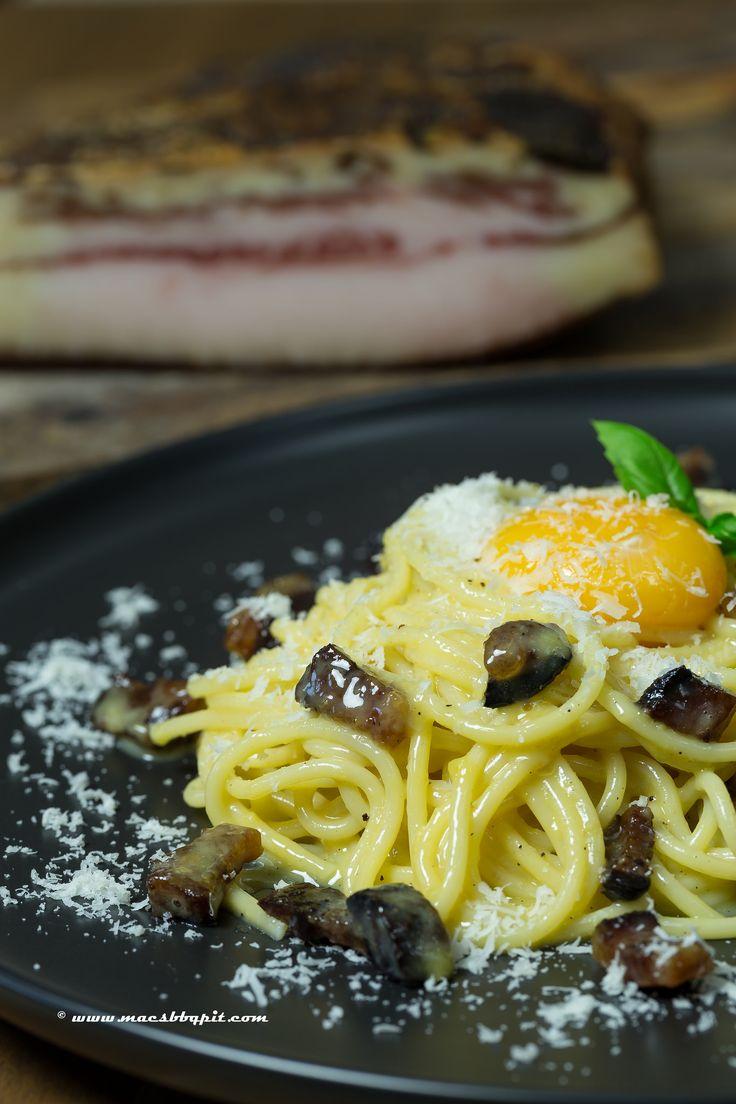 Guanciale, Spaghetti alla Carbonara
