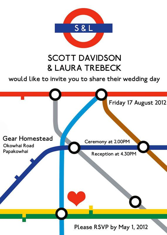london underground wedding invitation graphic by happywhale 20 00
