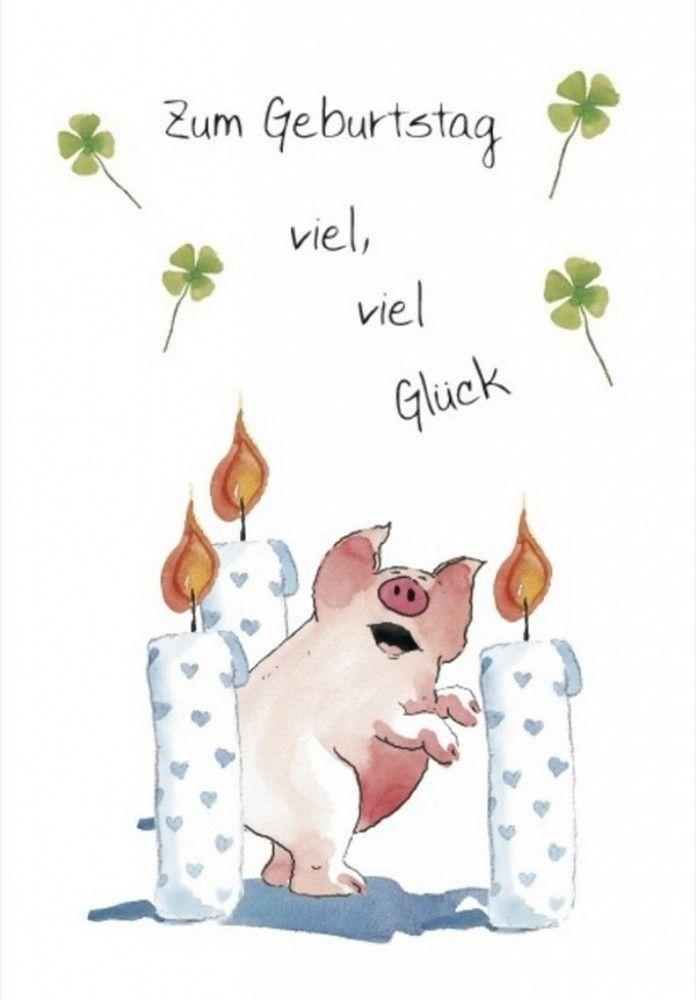 Zum Geburtstag viel, viel Glück -Klappkarte Grußkarte von Helme Heine