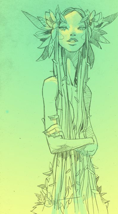 Druida Mulher - Ilustração