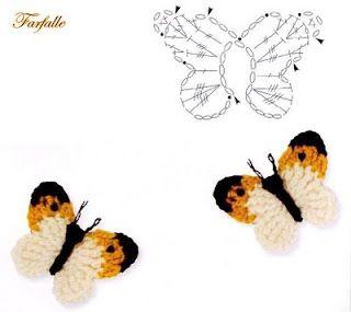 tiny crochet butterfly