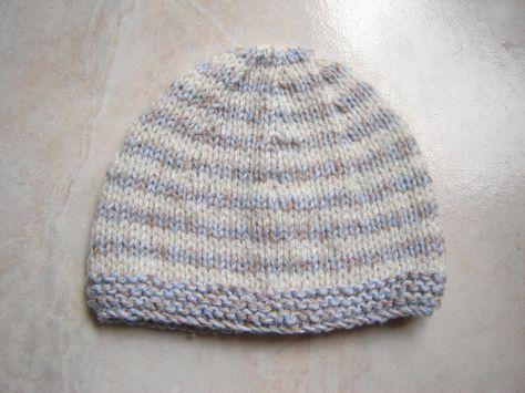 Bonnet marin, taille 1 mois pour bébé Chap2. Tuto gratuit.