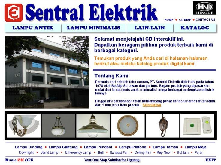 CD Katalog Produk PT. Sentral Elektrik (cover page)