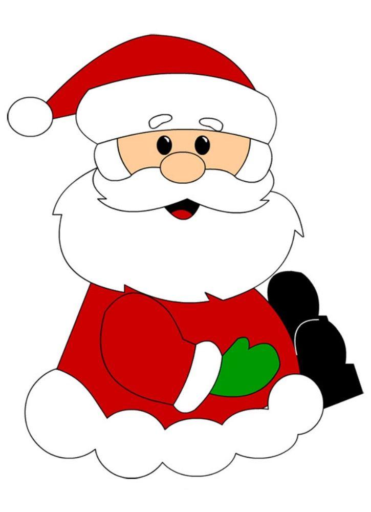 Ozdoba z papieru, wydrukuj, wytnij Mikołaja. Szablon świąteczny za darmo |  Enfeites de natal, Pintura de natal, Artesanato de natal