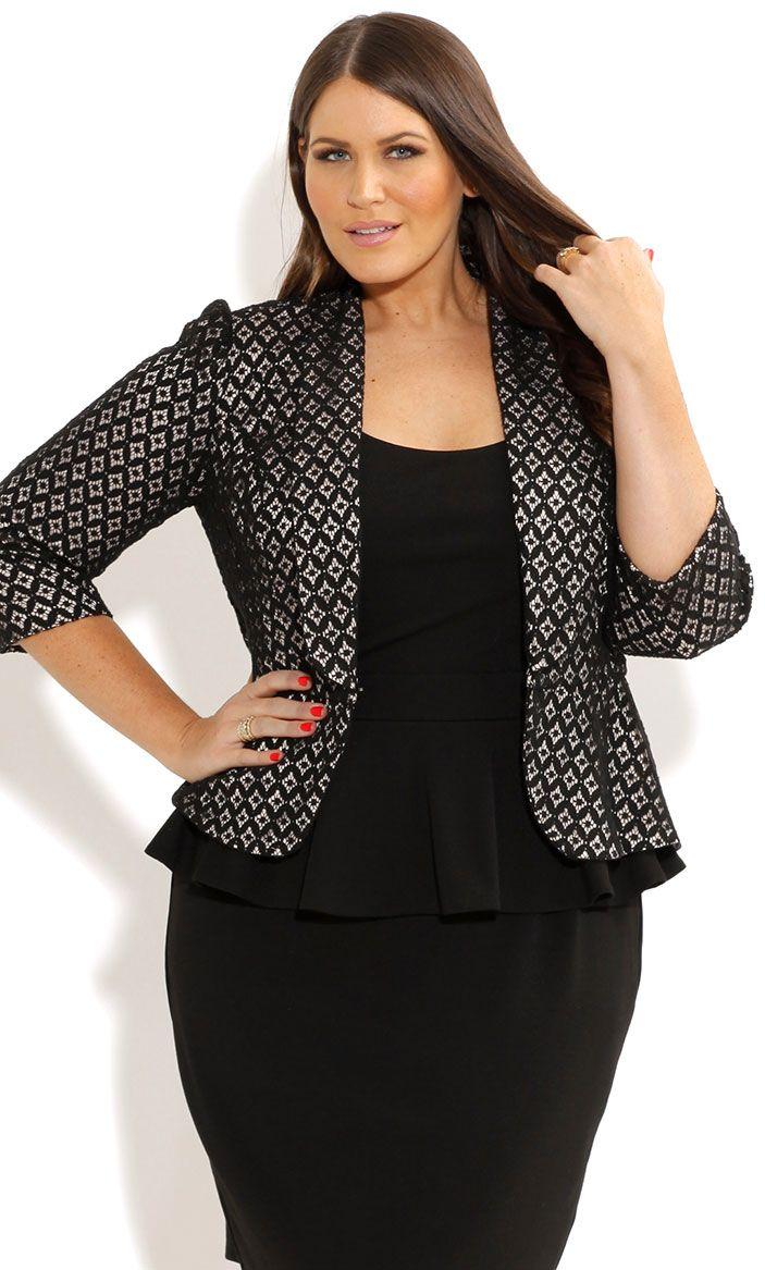 City Chic - MISS LACEY JACKET - Women's plus size fashion