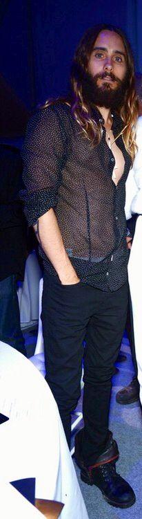 Jared leto at Leonardo Dicaprio Foundation