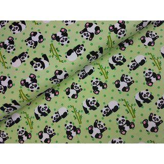 Jersey Panda mit Bambus in grau, rosa und mint