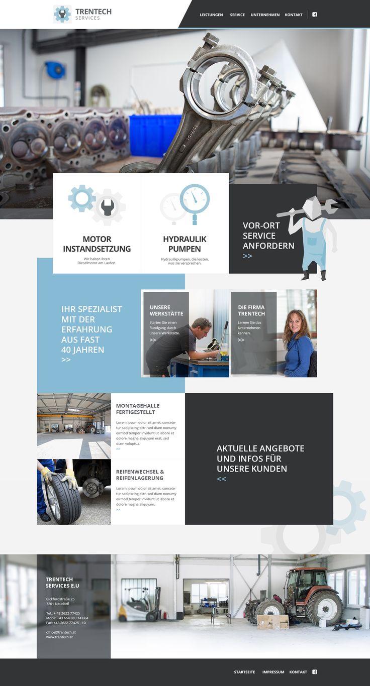 Trentech #webdesign #blue #white #grey