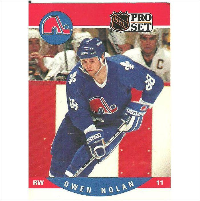 NHL Pro Set 1990 Hockey Trading Card #635 Owen Nolan #88 (11) Quebec Nordiques on eBid Canada $0.50