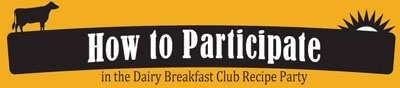 How to participate in the Dairy Breakfast Club linky party and giveaway at TidyMom