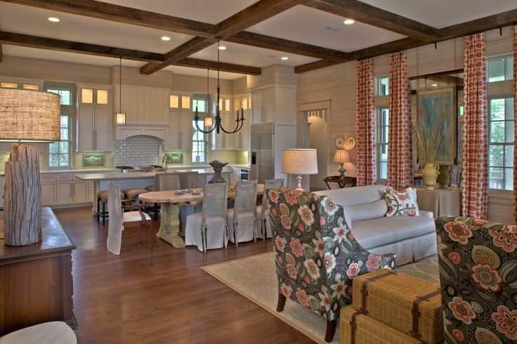 Combined kitchen/dining: Kitchens, Dining Room, Interior, Beach House, Living Rooms, Kitchen Dining, Design