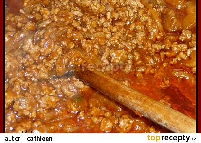 Mleté maso na špagety recept - TopRecepty.cz
