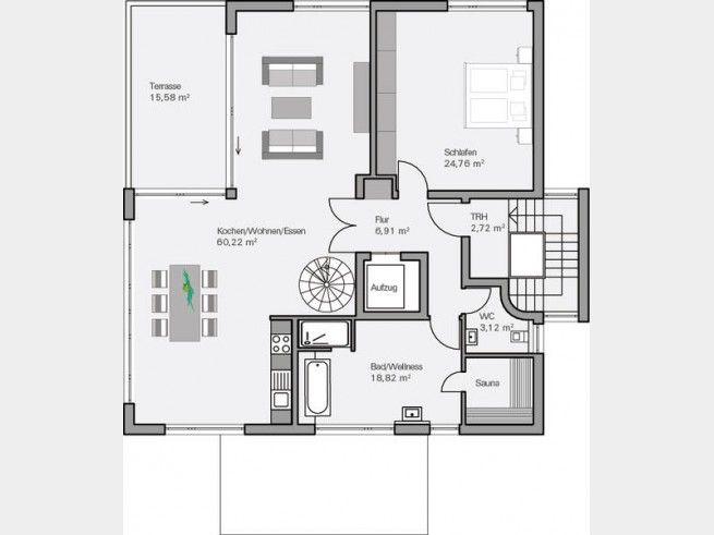 110 besten grundriss f rs traumhaus floor plans bilder for Einfamilienhaus flachdach grundriss