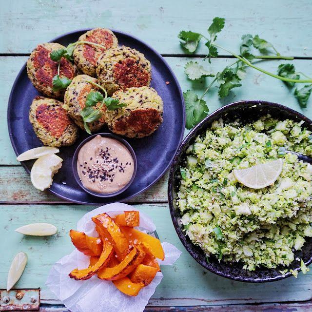 Vanløse blues.....: Edamame frikadeller, græskar fritter & broccoli tabbouleh + en guide til den gode vegetar delle