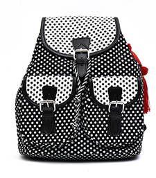 Buy Polka dot printed classy Canvas Back Pack backpack online