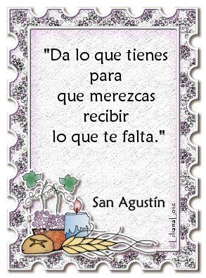 Liliana Lois Diseños: Citas y Frases celebres San Agustin
