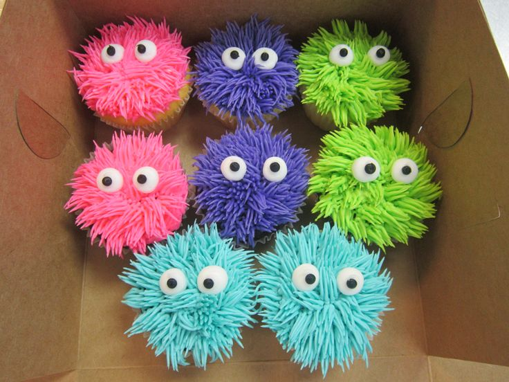 Furry Monster cupcakes by American Dream Cakes, Inc