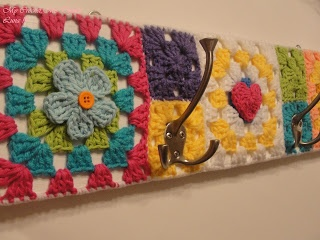 Crochet Granny Square Towel Hanger - Tutorial  ❥ 4U // hf