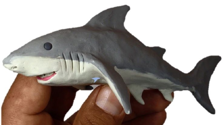 Como hacer un Tiburón de Plastilina / How to make a shark clay