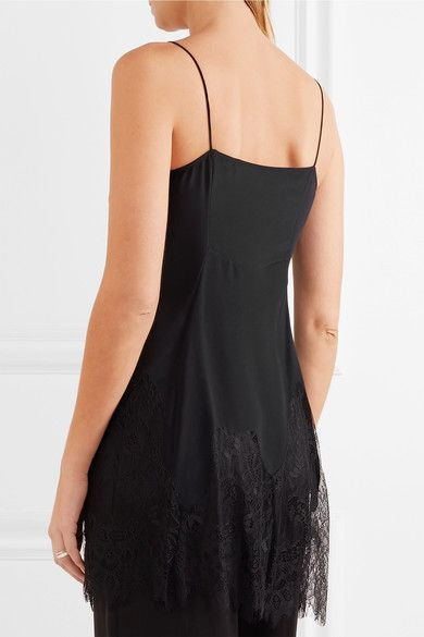 McQ Alexander McQueen - Lace-trimmed Silk Camisole - Black - IT36
