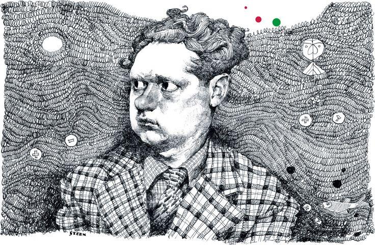 Dylan Thomas, by Paul van der Steen