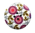 Purple Flowers Round Buttons