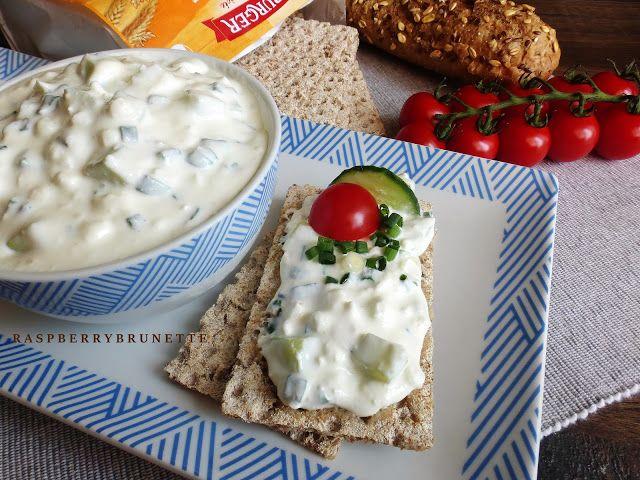 Raspberrybrunette: Nátierka s cottage cheese a uhorkou