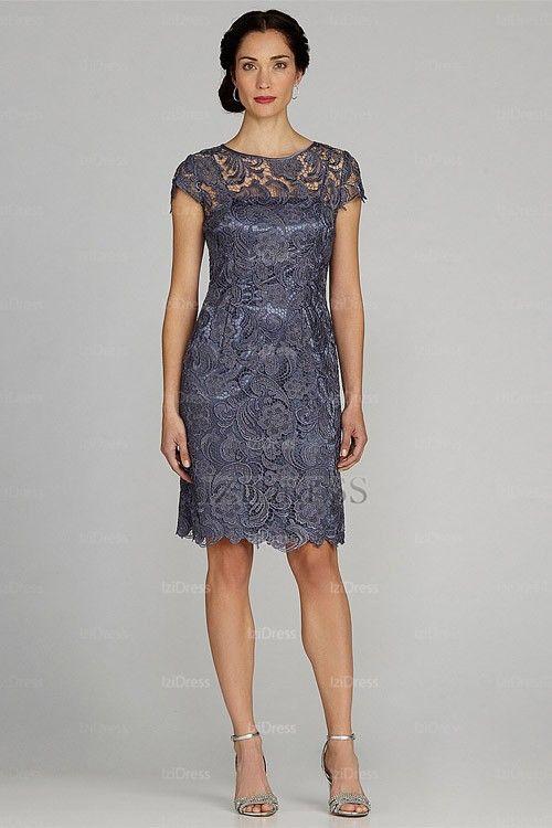 Patra Illusion Lace Sheath Dress   Groom dress, Evening dresses ...