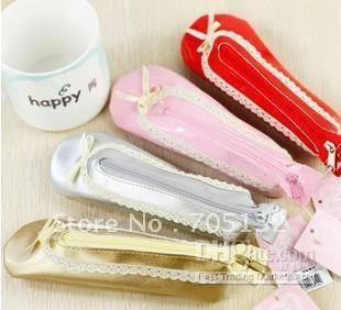 Wholesale Pens & Pencils - Buy Ballet Shoes Design Pencil Case ,creative PU Pencil Bags,Mix 17*4cm $3.25 | DHgate