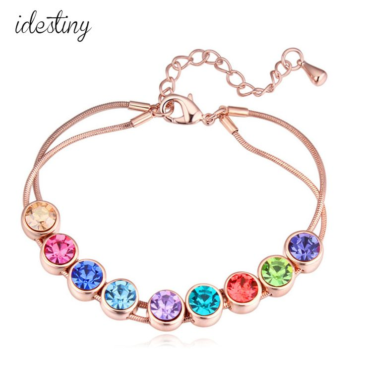 Find More Charm Bracelets Information about New arrival rose gold plated SWA crystal multiclor bracelet for women 4 colors famous brand jewelry,High Quality bracelets for,China bracelets for women Suppliers, Cheap bracelet brand from Idestiny Jewelry Store on Aliexpress.com