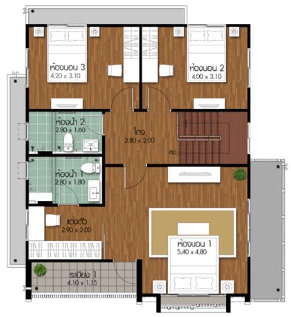 Plano De Casa De Dos Pisos 4 Dormitorios Y 3 Banos Casas De Dos Pisos Planos De Casa De Dos Pisos Planos De Casas