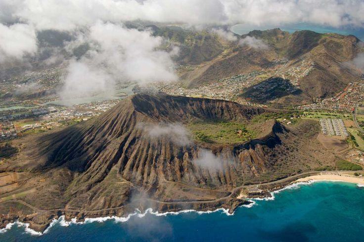 Cráter Koko en Oahu, Hawái