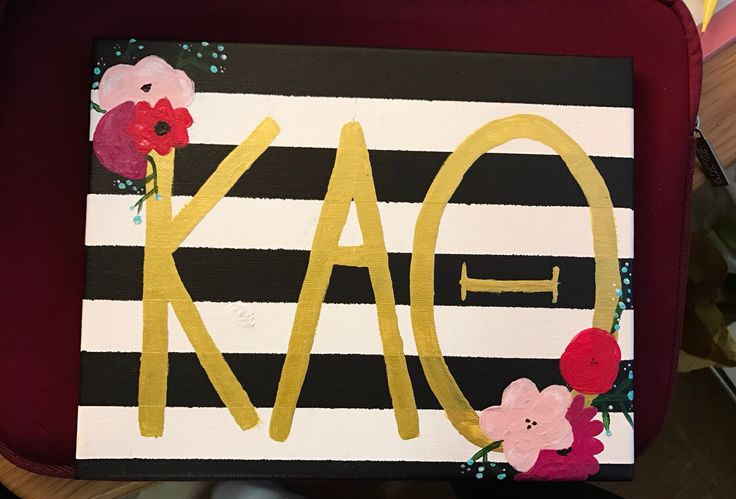 Kappa Alpha Theta Sorority Canvas Kate Spade Themed Crafts for Big Little Reveal