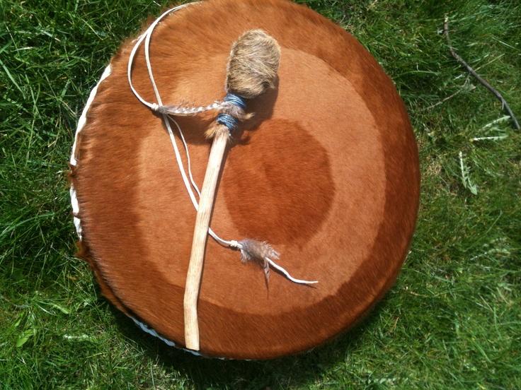 Tijdens de healing kan ik ook gebruik maken van mijn drum.