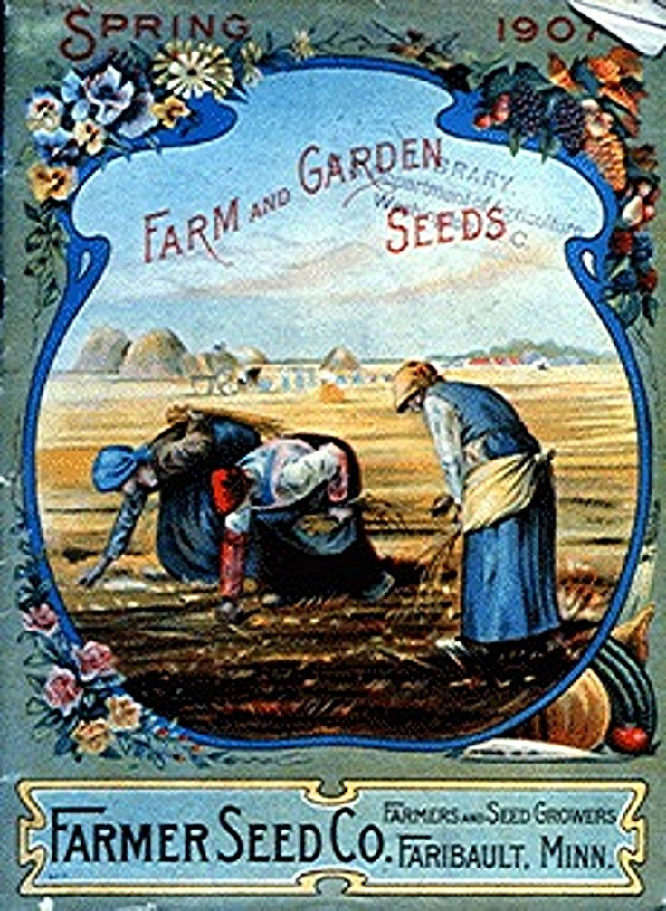 vintage seed packet images in public domain | Victorian seed catalogs. Scan of 2 d images in the public domain ...