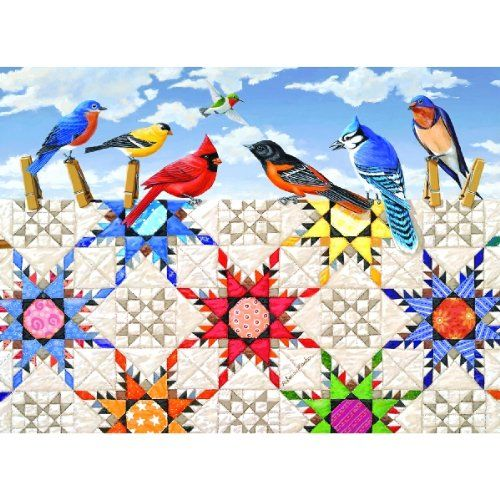 500 Piece Puzzle Feathered Stars Art and Craft Product
