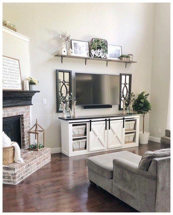 52 Best Diy Farmhouse Tv Stand Design Ideas And Decor Farmhousedecor Farmhousetvstand Farm House Living Room Farmhouse Decor Living Room Living Room Tv Stand