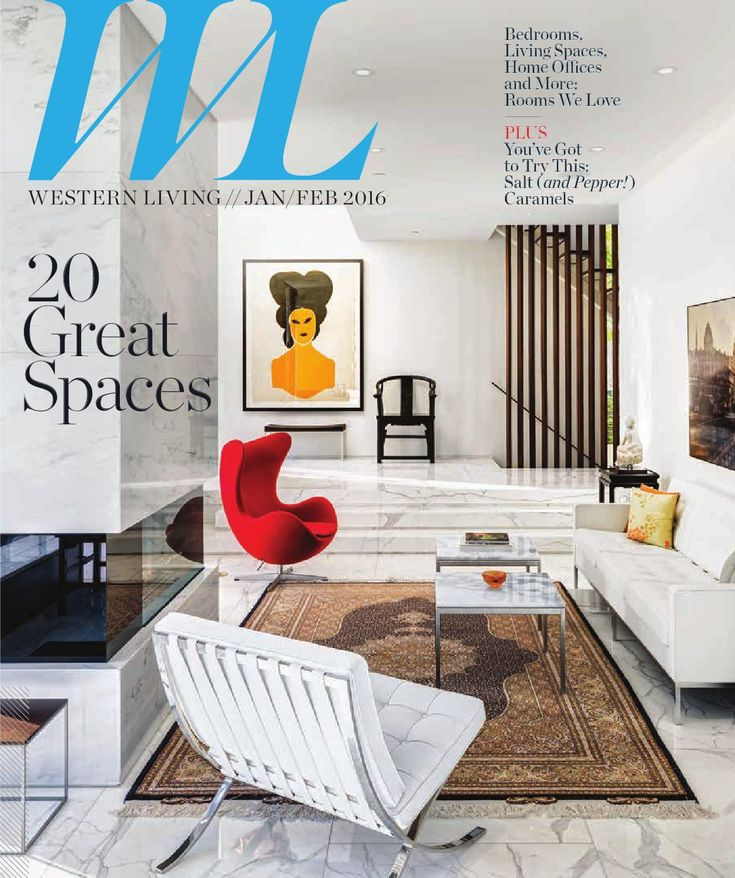 Western Living Magazine - BC, Jan/Feb 2016 Western Living magazine entertains readers on the subject of home design, food and wine, and travel and leisure. As Canada's largest regional magazine, Western Living invites readers to stretch their imaginations about living in the West: we share what intrigues, surprises and thrills us about people, places, homes, gardens, food and adventure from Winnipeg to Victoria and everywhere in-between.