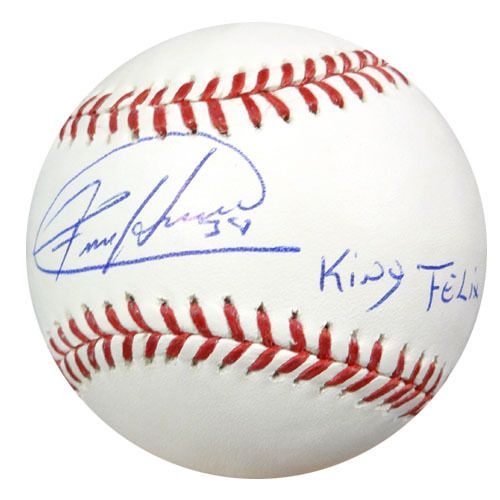"Felix Hernandez Autographed Official MLB Baseball Seattle Mariners """"King Felix"""" PSA/DNA Stock #56211"