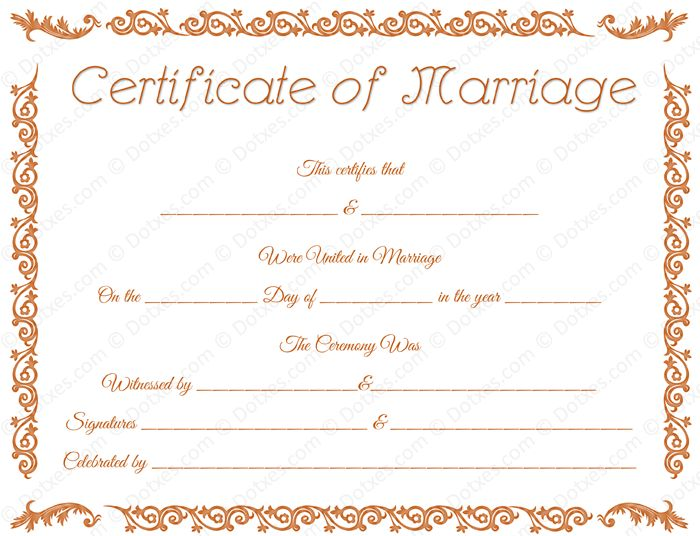 Best Printable Marriage Certificates Images On