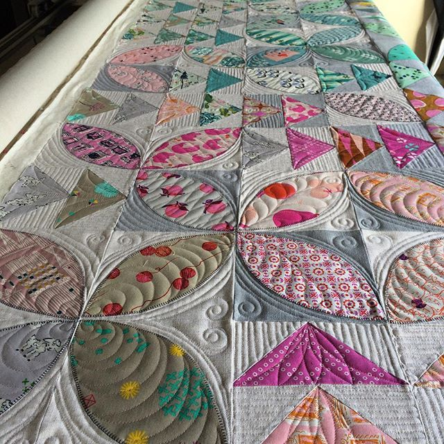 I've now done about a third of this quilt. Looking forward to moving on to the…