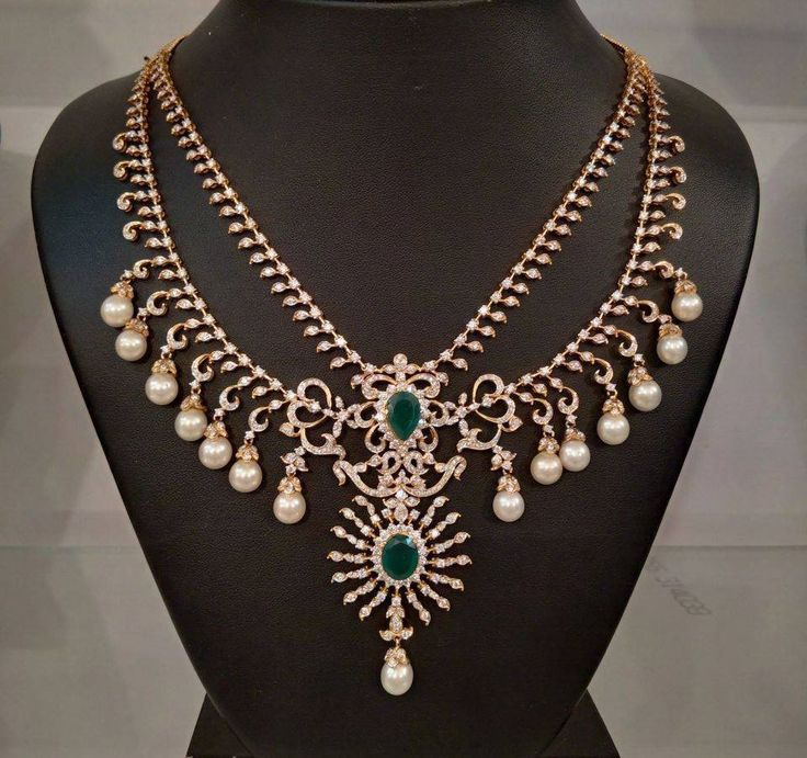 Traditional South Indian Diamond Necklace Designs