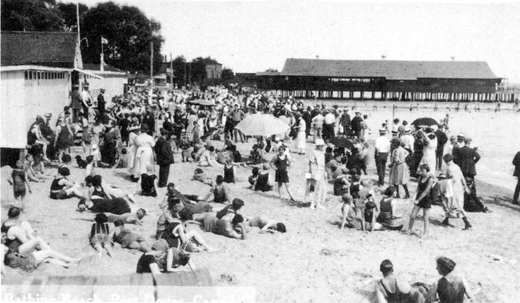 Port Dover beach on a busy day, with the first Summer Garden's built over the water, built in 1920 and destroyed in a storm in 1929. http://www.escapetodover.com/photo-gallery-then-page-4.htm