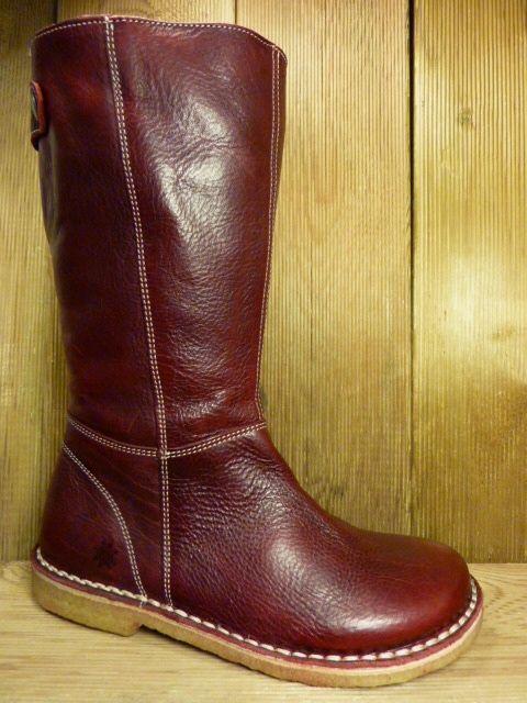Grünbein Schuhe Stiefel Laure bordeaux auch für Einlagen zwiegenähter Lederstiefel