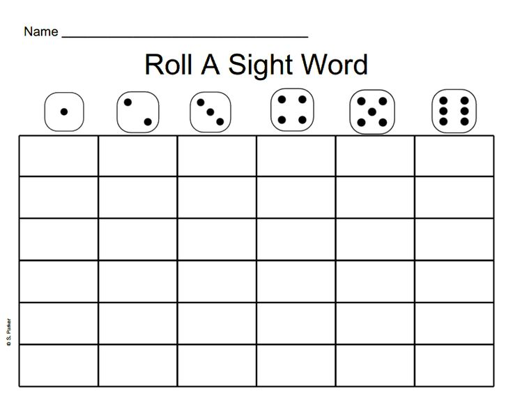 Roll a sight word blank template the best free software for Blank word wall template free